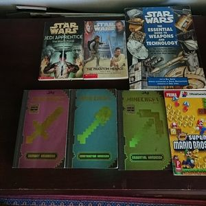 7 children books bundle Star Wars, Minecraft and